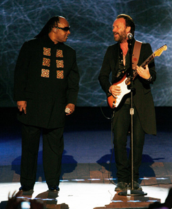Sting looks like a lumberjack during the inaugural ball